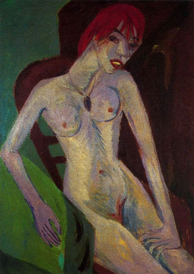 Ernst Ludwig Kirchner. Woman with red hair
