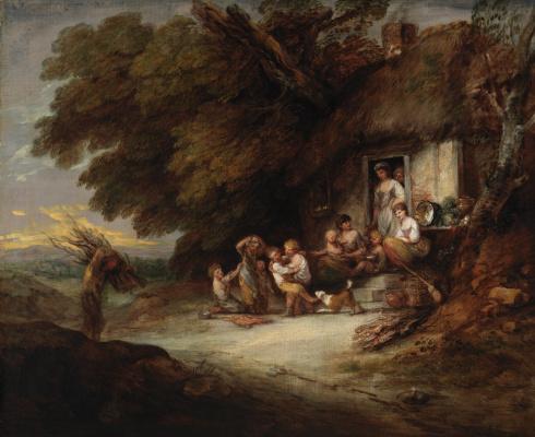Thomas Gainsborough. Cottage door