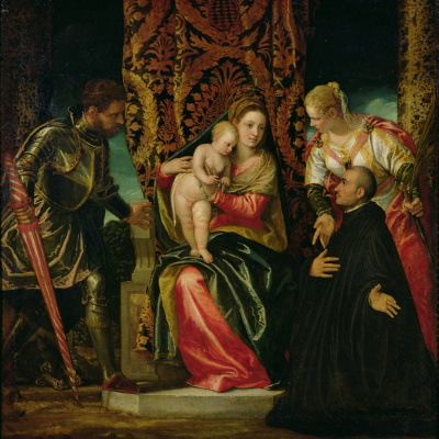 Paolo Veronese. Madonna and Child with Saints Justin and George and a Benedictine Monk