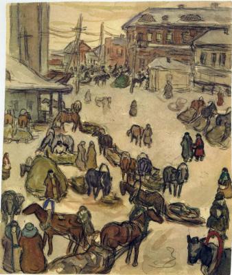 Aleksandr Aleksandrovich Deineka. Winter in Kursk