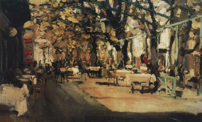 Konstantin Korovin. Cafe in Yalta