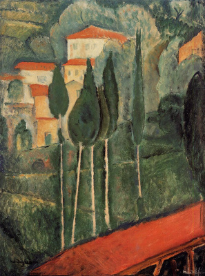Amedeo Modigliani. Landscape. South France