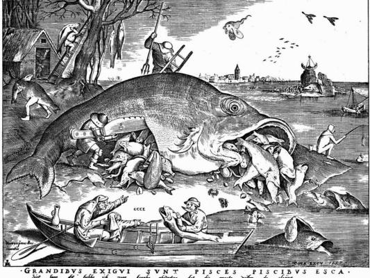 Питер Брейгель Старший. Большие рыбы поедают малых