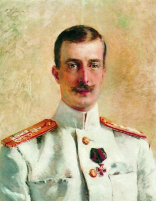 Konstantin Makovsky. Portrait of Grand Duke Kirill Vladimirovich, the eldest son of Grand Duke Vladimir Alexandrovich, brother of Emperor Alexander III