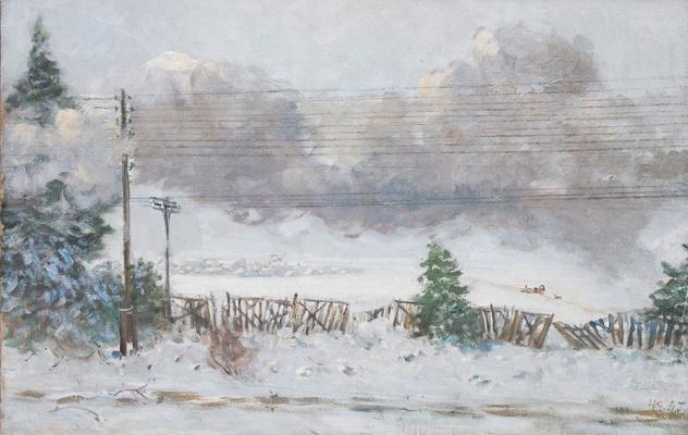 Alexander Mikhailovich Gerasimov. From the window of the car. 1949