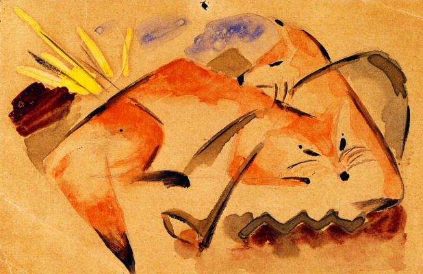 Франц Марк. Две лисы