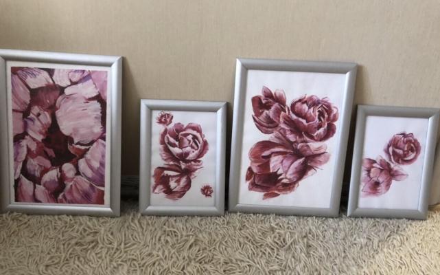 Anastasia Lande. Illustration flowers