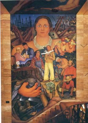 Diego Maria Rivera. Allegory of California