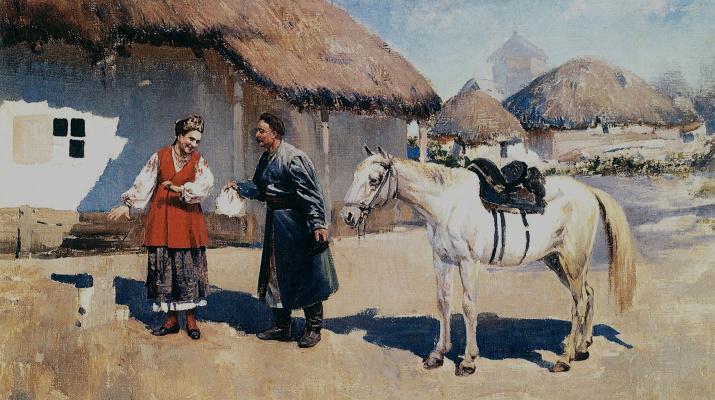 Сергей Иванович Васильковский. А что скажут мама?  Подарок. 1911
