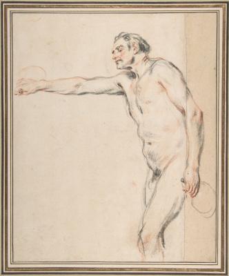 Antoine Watteau. Nude model with jars