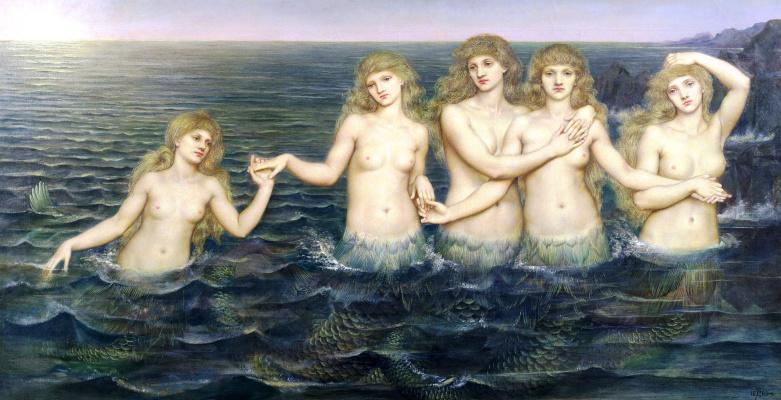 Evelyn De Morgan (Pickering). Sea Maidens (Mermaids)