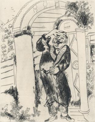 Marc Chagall. Manilov. Illustration for Gogol's poem Dead Souls