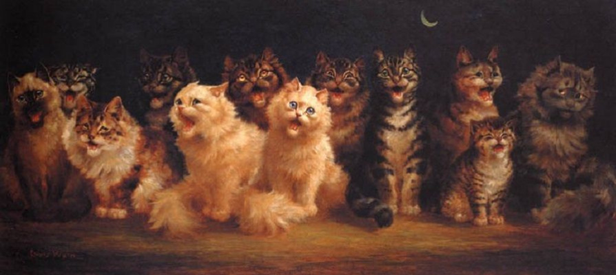 Louis Wain. Cat choir