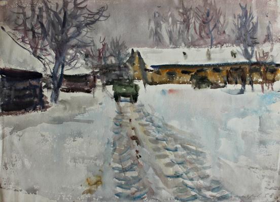 Andrey Mikhailovich Ponomarev. Winter landscape