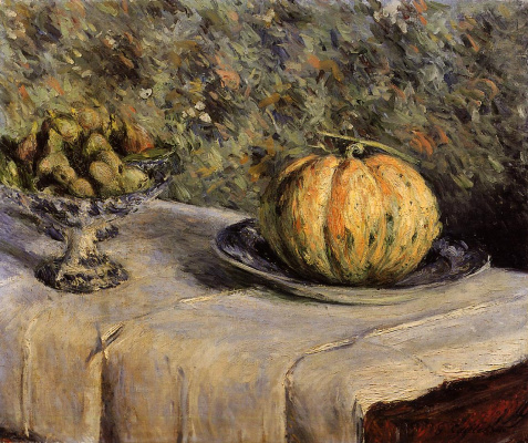 Gustave Caillebotte. Melon and bowl of figs