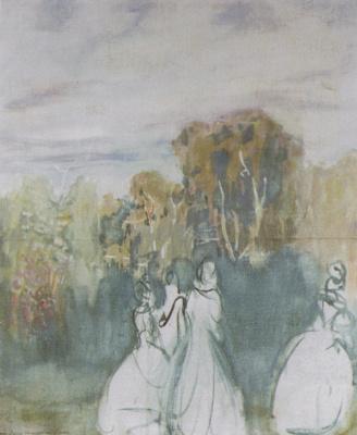 Виктор Эльпидифорович Борисов-Мусатов. Парк погружается в тень. 1904
