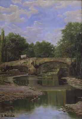 Santiago Rusignol. Bridge over a River