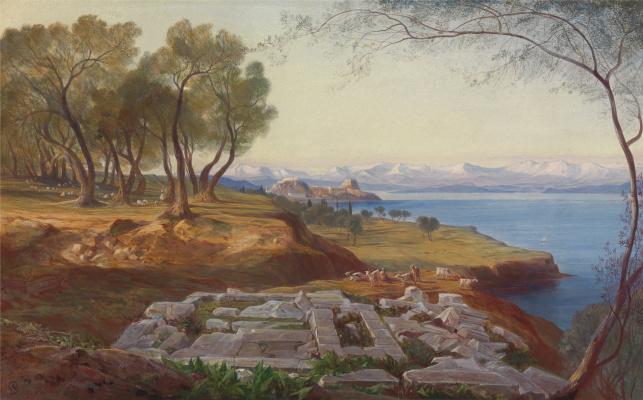 Эдвард Лир. Corfu view