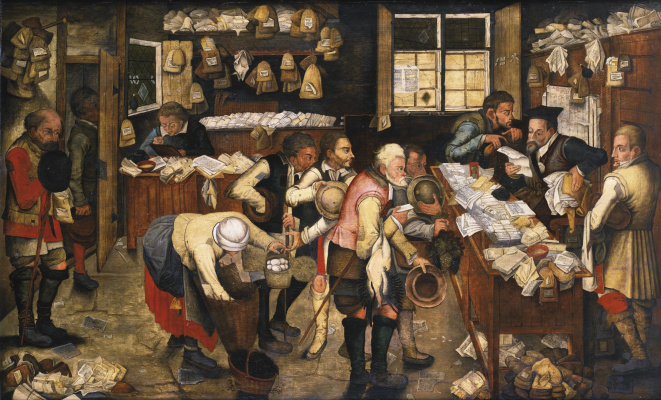 Peter Brueghel The Younger. Rural lawyer (the Peasants from the tax collector)
