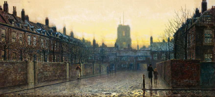 John Atkinson Grimshaw. Church in Old Chelsea