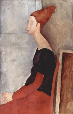 Амедео Модильяни. Портрет Жанны Эбутерн в темном платье