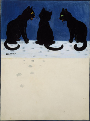 Louis Wain. Three in the snow