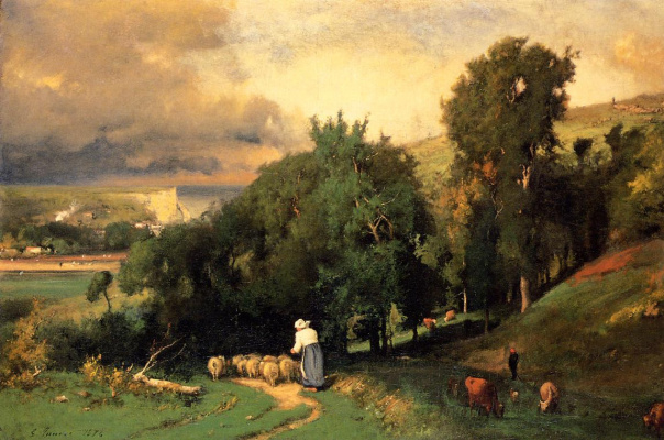 George Innes. The slope in the Ertret