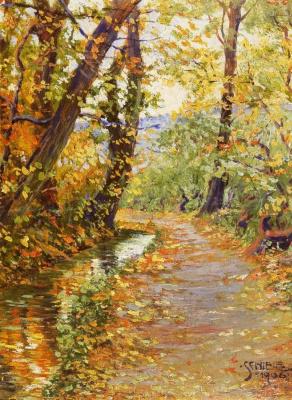 Egon Schiele. Winding Creek