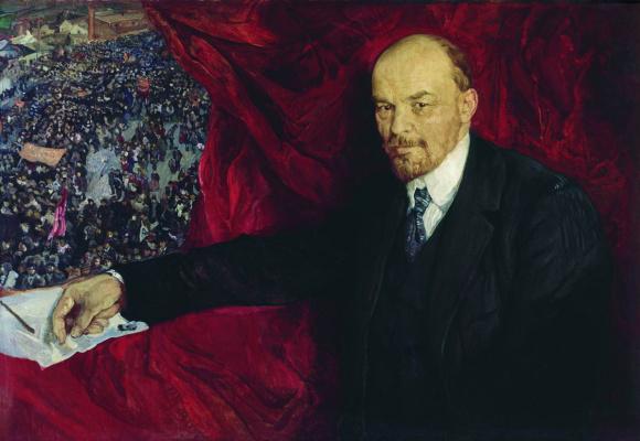 Исаак Израилевич Бродский. Ленин и манифестация