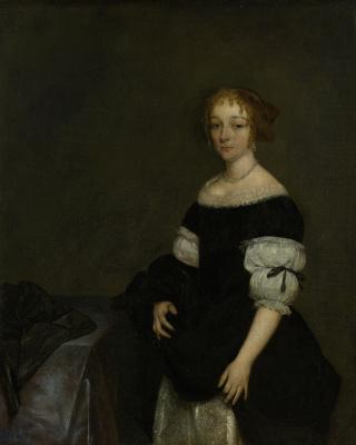 Gerard Terborch (ter Borch). Portrait of Aletta Pancras