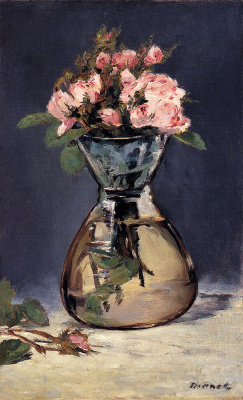 Edouard Manet. Roses in a vase
