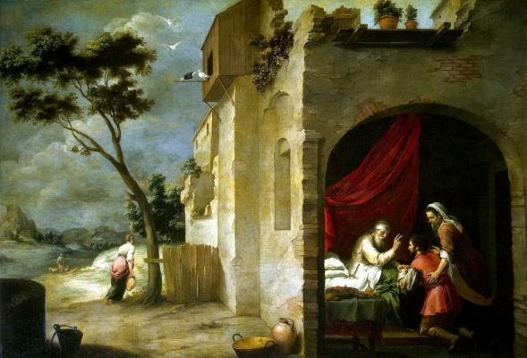 Bartolomé Esteban Murillo. The Isaac Blessing Jacob