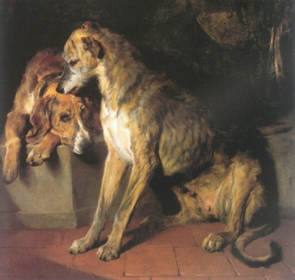 Edwin Henry Landseer. Greyhound and hound English.