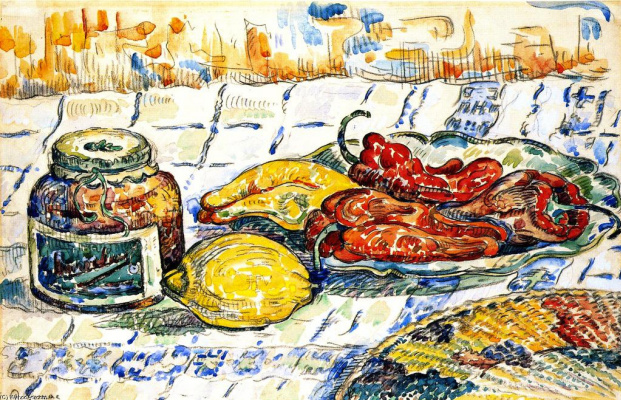 Paul Signac. Still life with pepper