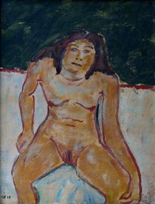 Erich Heckel. Nude