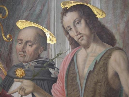 Джованни Санти. Святой Антоний. Фреска Капеллы тиранов в церкви Св. Доминика