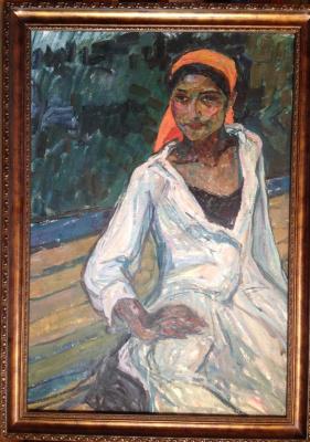 "Boris M. Kuznetsov. ""A Gypsy woman in white"""