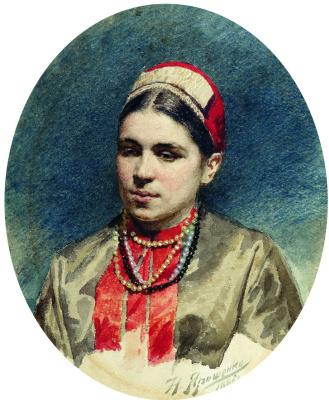 Nikolay Aleksandrovich Yaroshenko. Portrait of the actress Pelagia Antipevna Strepetova. 1886