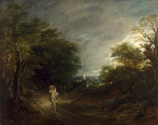 Thomas Gainsborough. Cleaver (landscape with a woodcutter)