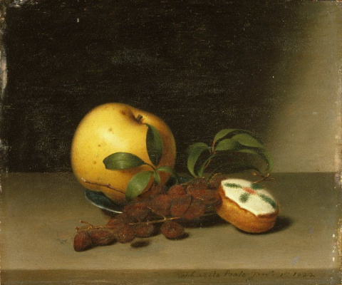 Raphaelle Peale. Still life with cake