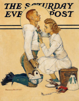 "Norman Rockwell. Champion. Cover of ""The Saturday Evening Post"""