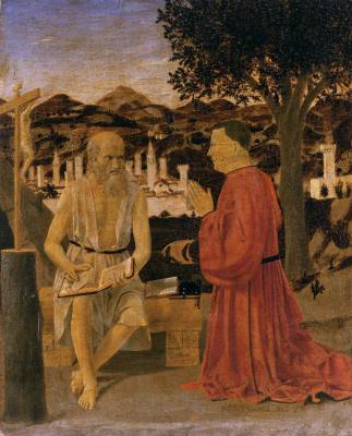 Piero della Francesca. St Jerome and the preacher