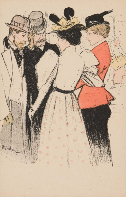 Theophile-Alexander Steinlen. Two gallant pair