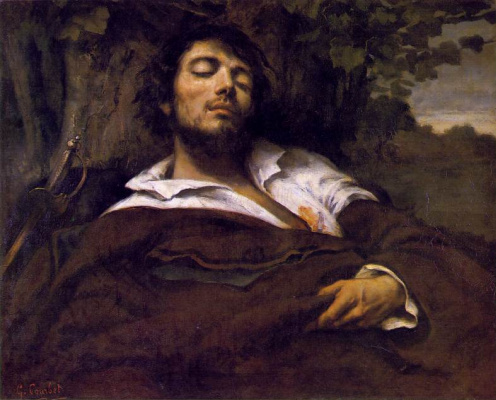 Gustave Courbet. Wounded