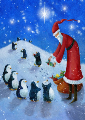 Jen Pashley. The penguins and Santa