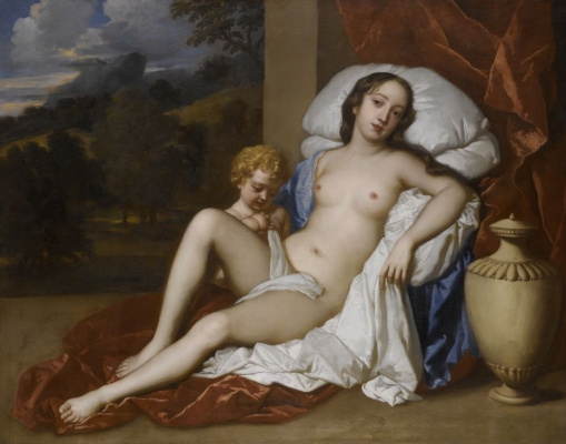 Sir peter leli. Portrait of Nell Gwyn in the image of Venus