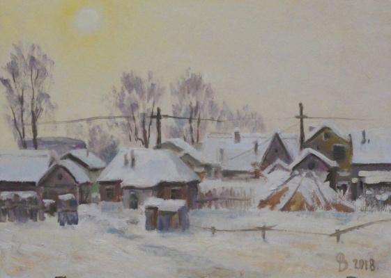 Valery Fedorov. The backyard