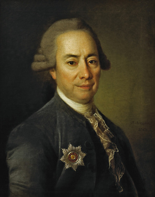 Дмитрий Григорьевич Левицкий. Портрет Петра Васильевича Бакунина Большого. 1782