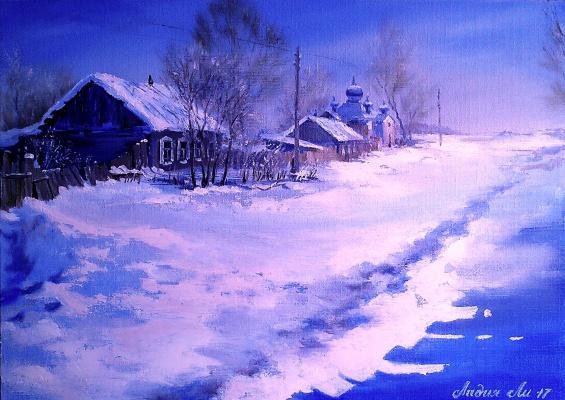 Lydia Lee. Zimushka-winter No. 2 (triptych)