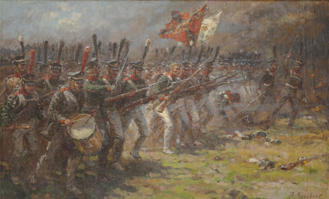 Aleksandr Chagadaev. Attack of the Moscow Grenadier Regiment